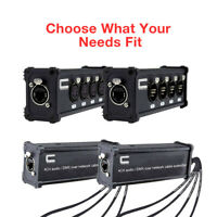 4-Channel 5-Pin XLR, AES, DMX Snake Audio Signal Over Ethernet Network Cat5/6/7