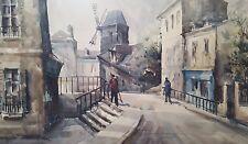 """""""Le Moulin Rouge"""" by Lucien Delarue, Original Watercolor on Paper"""