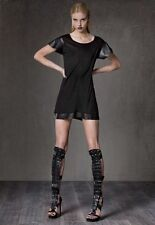 Alexis Janice Jersey Dress with Leather S