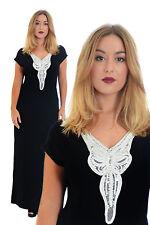 Women's Viscose V Neck Plus Size Dresses without Pattern