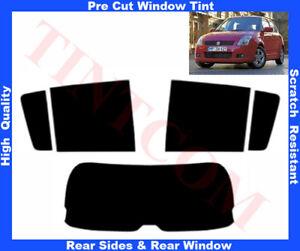 Suzuki Swift 5D 2005-2010 Pre-Cut Window Tint 5%-50% Rear Window & Rear Sides