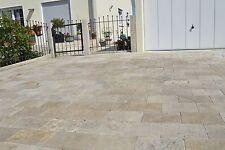 Travertin Natural Bodenplatten 60 x 40 x 3 cm Oberfläche offenporig getrommelt