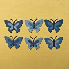 6 BLUE BUTTERFLY DIE CUTS  ~ EMBELLISHMENT SCRAPBOOKING ~BUTTERFLIES INSECTS