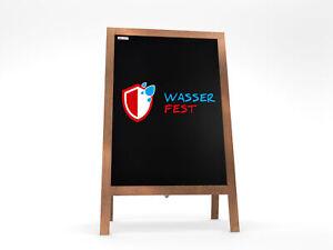 Wasserfest Kundenstopper Aufsteller Kreidetafel Holzrahmen Werbetafel Restaurant