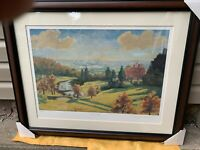 "WINSTON CHURCHILL""VIEW FROM CHARTWELL"" LITHOGRAPH  SIGNED &  Numbered England."