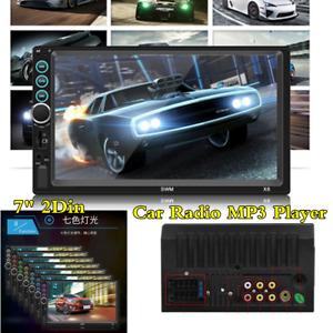 "Bluetooth Stereo Car Radio Audio MP3 Player 7"" 2 DIN Wince System HD Head Unit"
