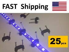 LED tape light CLIPS - mounting hardware kit part fits 5050 5630 SMD lighting