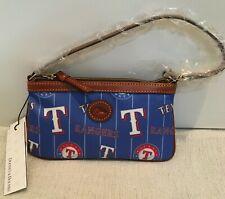Dooney & Bourke Texas Rangers Nylon & Leather Large Wristlet or Shoulder Bag