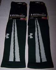 Under Armour UA Ignite SOCCER Crew Socks 2 Pair GREEN/WHITE Men's Medium NWT $30