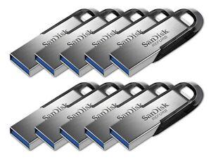 LOT 10x SanDisk 64 GB ULTRA FLAIR USB 3.0 flash drive 64GB 150MB/s SDCZ73-064G