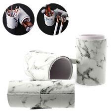 Make-up Pinsel Stifthalter Marmor Aufbewahrungsbox Halter PU-Leder kosmetische