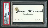Strom Thurmond signed autograph auto United States Senator Business Card PSA