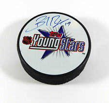 Brad Richards Signed NHL Souvenir Young Stars Hockey Puck Lightning Topps Auto