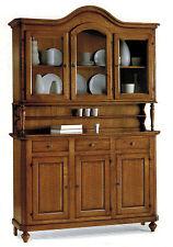 Credenza napoletana arte povera legno massello, cristalliera mobile, credenza
