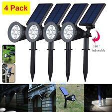 4x 250LM 4 LED Solar Power Spot Light Outdoor Garden Lamp Wall Lights Pure White
