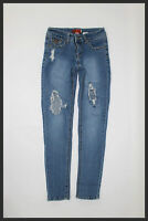 Hip Jeans Womens Blue Embellished Gold Studs Distressed Skinny Jeans Size 1