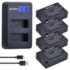 4Pcs LP-E17 Battery + Charger for Canon EOS 200D M3 M6 750D 760D T6i T6s 800D