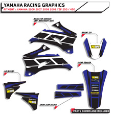 GRAPHICS HURRICANE BLUE YAMAHA 2006 2007 2008 2009 YZF 250 / 450 BIKE DECALS