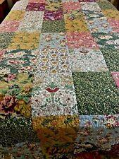 "Antique Chic Mixed Floral Patchwork Quilt 120"" x 120"" KING sz #216"