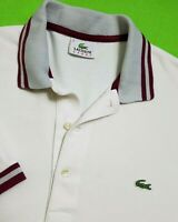 LACOSTE SPORT MENS POLO SHIRT TOP S (3) WHITE SHORT SLEEVE 184
