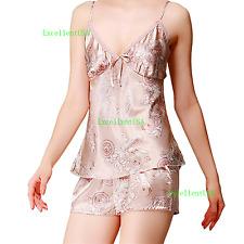 Women Sleepwear Set Nightgown Robe Lace Lingerie Nightwear Pants Babydoll Dress