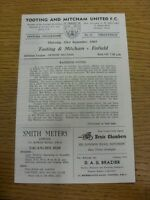 23/09/1965 Tooting And Mitcham United v Enfield  (Four Pages, Neat Team Changes)
