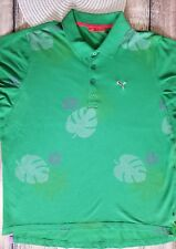 Puma Men's Polo Rugby Shirt GREEN  PIQUE COTTON sz XL