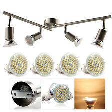 LED GU10 Deckenleuchte 4-flammig inkl 4er Einbauleuchte 3,5W Lampe Spot Strahler