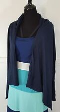 NEW ABERCROMBIE & FITCH NAVY BLUE CARDIGAN HOODIE LOOSE SIZE XS/S