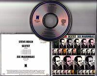 STEVE REICH Sextet / Six Marimbas 1986 European SIGNED / AUTOGRAPHED CD + CoA