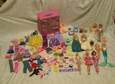 Vintage Mattel Barbie Ken Doll Lot Accessories Clothes Furniture Fashion Trunk