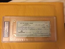 "Walter ""Buck"" Leonard Signed Autograph Original Check PSA/DNA Slabbed Died 1997"