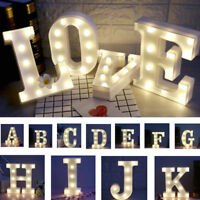 A-Z Plastic LED Letters for Parties, Weddings, Decorations, Stand up Warm White