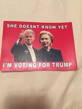 ANTI HILLARY BILL CLINTON VOTING FOR TRUMP STICKER PRESIDENT 2016
