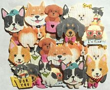 Lovely Animal Dog Washi Sticker 40 Puppy Poodle Shiba Inu Pulldog MADE IN JAPAN