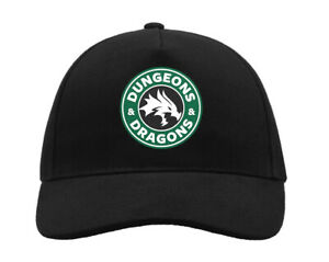 Dungeons And Dragons Starbucks Coffee Style Logo 5 Panel Cap Trucker Hat