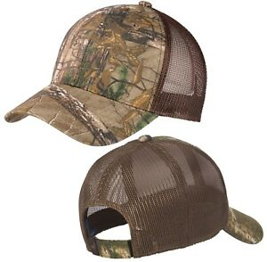 Realtree Xtra/ Brown Camo Baseball Cap Hat Mid Structured Adjustable NEW