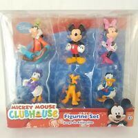 Disney Mickey Mouse Clubhouse Figure Play Set - 6 Figurines Minnie Mouse Goofy