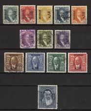 Iraq Irak 1932-1934, King Faisal I Overprint Revenue to 1/2 Dinar, Used 4156