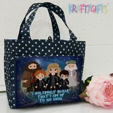 Harry Potter Witch Wizard Girls Ladies Polka Dot Spotty Insulated Lunch Bag ET05
