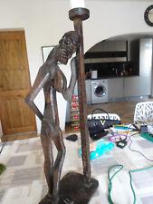 sculpture femme en bois stylisée 80 cm