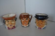 Toby, Vintage Miniature Toby Mug Made In Occupied Japan Lot of 3 lot3
