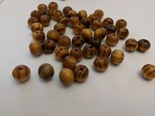 Wood Beads, Lead Free, Round, Brown 8mm, Hole 2.5mm Qty 20