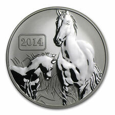 2014 $5 Reverse Proof 1 oz Silver Tokelau Horse