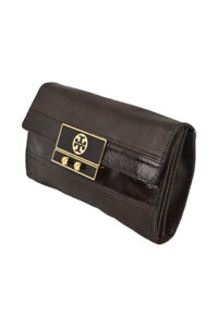 Tory Burch Women Accessories Clutches N/A Brown Leather
