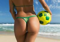 Brazilian Beach Bum Soccer Pin Up Mural Poster 36x54 inch