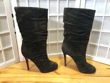 Authentic Christian Louboutin Piros 120 Boots EU40 US9.5 UK7 Brown-Gray Slouch