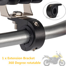 360°Alloy Motorcycle Handlebar Lamp Clamp Extension Bracket For LED Light Holder