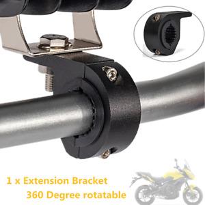 360°Alloy Motorcycle Handlebar Lamp Clamp Extension Bracket For LED Light Holder