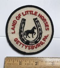 Land of Little Horses Gettysburg Pennsylvania PA Souvenir Embroidered Patch